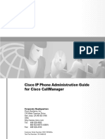 IP Phone Adm Guide for Cisco CallManager