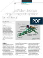 Bond Street Station Upgrade – Using 3D Analysis to Optimise Tunnel Design