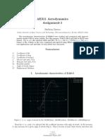 E220-il airfoil theoretical analysis