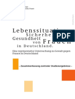 Lebenssituation, Sicherheit Und Gesundheit Von Frauen in Deutschland Kurzfassung