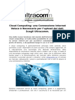 Ultracomm conncetion Fast Internet per caricare i dati.docx