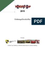 Ordningsföreskrifter 2015