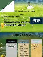 Manajemen Epistaksis Masif - Jurnal Dr. Putu