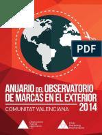Anuario Observatorio Marcas Valencianas en El Exterior 2014_web