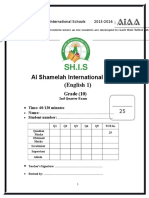 Mid-Term Exam English 1 Grade 10 (Answer Key)