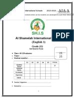 Mid-Term Exam English 1 Grade 11 (Answer Key)