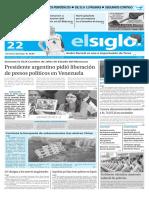 Edición Impresa Elsiglo 22-12-2015