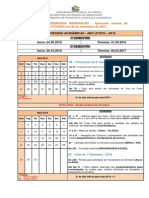 Calendário Acadêmico-2016