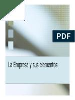 Empresa y Sus Elementos 2013