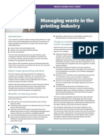 10 Printing Waste Reduction Factsheet