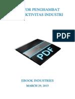 Faktor Penghambat Produktivitas Industri