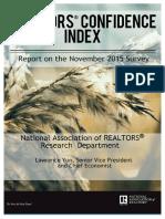 Realtors Confidence Index 12-22-2015