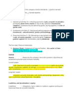 Accounting Financial Statement Notes