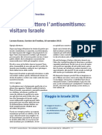 Per Combattere l'Antisemitismo Visitare Israele