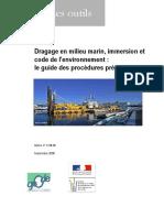 Dragage en Milieu Marin Immersion Et Code de l'Environnement Guide Des Procédures Préalables
