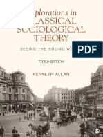 Explorations in Classical Sociological Theory_ Seeing the Social World - Allan, Kenneth D. (Douglas)