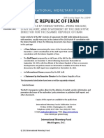 IMF Islamic Republic of Iran- 2015 Article IV Consultation-Press Release; Staff Report; And Statement by the Executive Director for the Islamic Republic of Iran