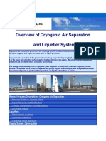 Overview of Cryogenic Air Separation