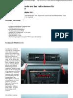 Ausbau der mittel konsole Audi A4 B6_8E