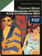 Mann, Thomas - Confessions of Felix Krull, Confidence Man (Penguin, 1970)