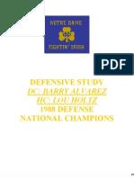 1988 Notre Dame Defense - Lou Holtz