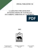 [24] CA Geol Survey Asbestos Guidelines