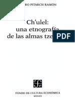 Pitarch, Pedro - Chulel Una Etnografia de Las Almas Tzeltales