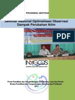 Seminar Nasional Optimalisasi Observasi Dampak Perubahan Iklim