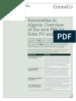 Renewables in Algeria
