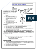 Portable Grinder Operating Procedures