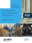 Department of Justice Six-Month Assessment Report on the Philadelphia Police Department