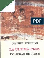Jeremias, Joachim - La Ultima Cena