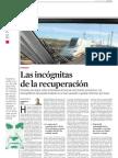 Incognitas Sobre La Recuperacion Economica de España