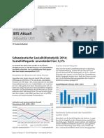 Schweizerische Sozialhilfestatistik 2014