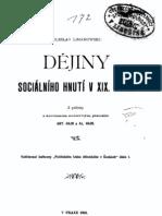 Dejiny Socialniho Hnuti v Xix Stol