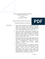 Undang Undang Nomor 25 Tahun 2009 - Tentang Pelayanan Publik
