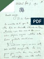 Carta de Rubén Darío a Unamuno (1900)