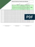 formato de entrega de EPP