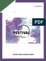 Chương Trình Festival Lê Hồng Phong 2016 - Gửi Tuấn