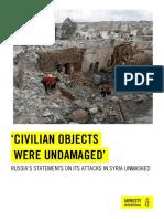 151223 Syrie Pertes Civiles Amnesty