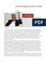 The Ranil Wickremesinghe Factor in 2016 and Beyond