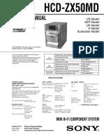 Sony HCD-ZX50MD Service Manual