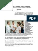 Aportes Desde El Movimiento Social de Mujeres a La Consolidación Del Trabajo en Masculinidades en Medellín-1