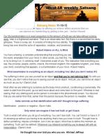 Satsang Notes 11-18-15