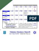 Calendario Tevet 5986