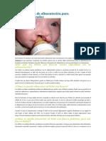 Instrucciones de Alimentación Para Lactantes Fisurados