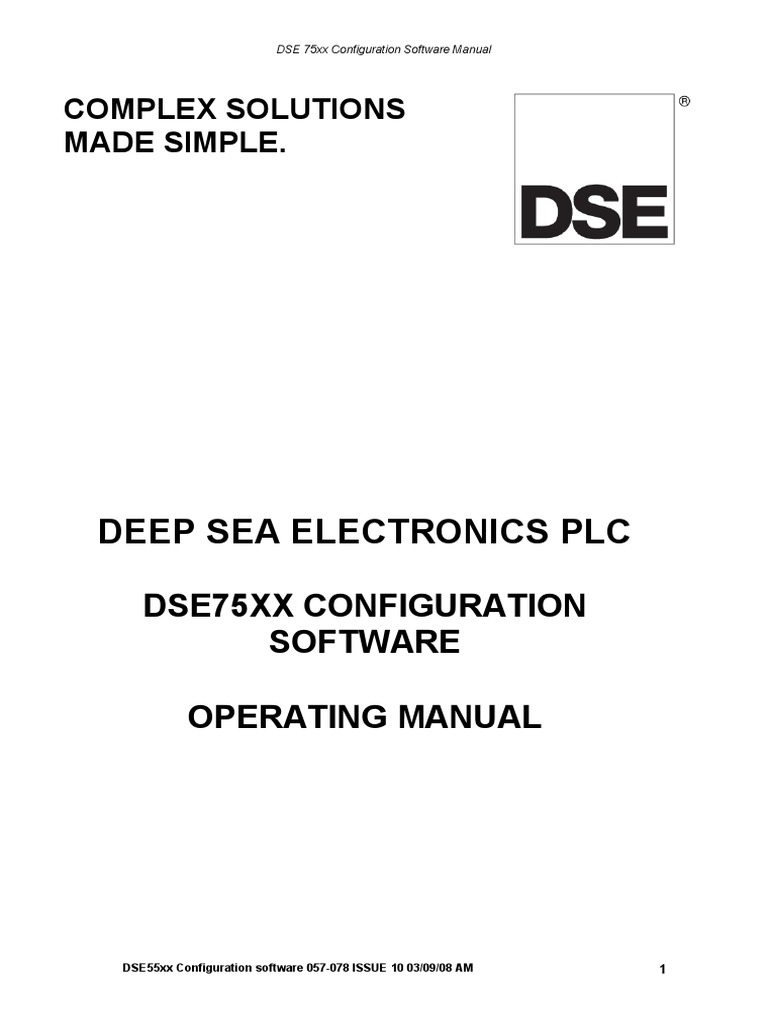 Dse75xx Pc Software Manual Device Driver Microsoft Windows Generator Accessory Buy Safety Switchair Circuit Breakergenerator