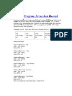 Contoh Program Array Dan Record