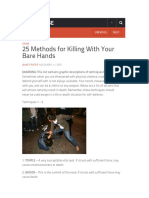 25 Methods for Killing With Your Bare Hands