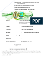 Trabajo de Ley de Recursos Hidricos y Ordenamiento Pesquero